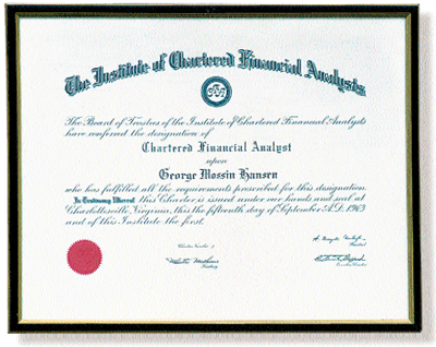 Does Your Money Manager Have a CFA Charter?